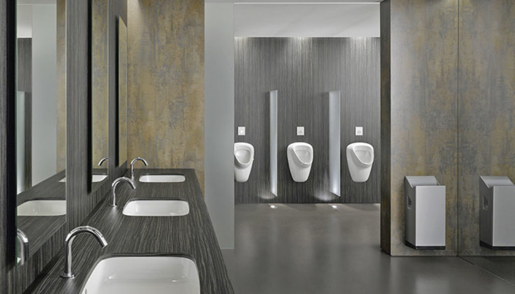 specialty product hardware commercial washroom design trends