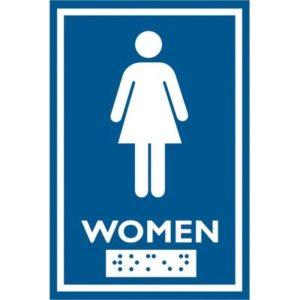 frost washroom sign female SPH