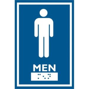 frost male washroom sign SPH