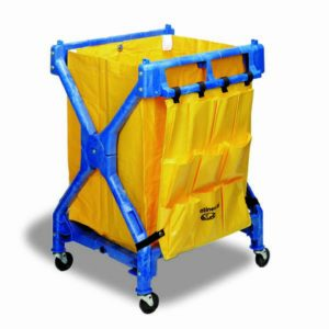 multiple use utility cart blue frame yellow bag SPH