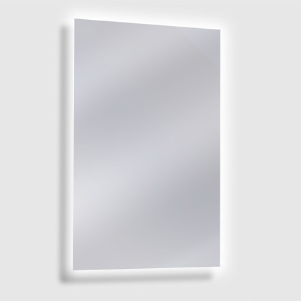Frameless Commercial Washroom Mirror with LED Backlight