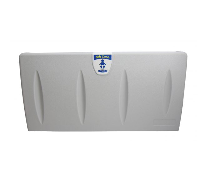 Gray Commercial Baby Change Table for Commercial Washrooms